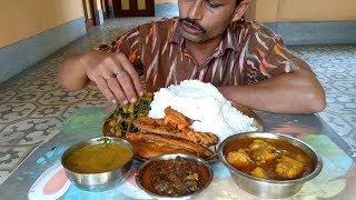 Record Breaking Rice | Bottle Gourd Leaves | Fish Head Dal | Eggplant Snacks | Spicy Tilapia Fish