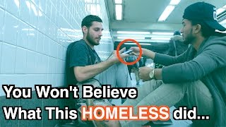 Video You Won't BELIEVE What This HOMELESS Did... (SOCIAL EXPERIMENT) MP3, 3GP, MP4, WEBM, AVI, FLV Desember 2018