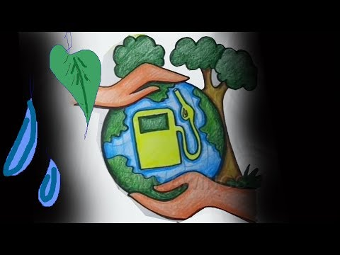 Download How To Draw Save Trees Save Earth Poster Drawing For Kids