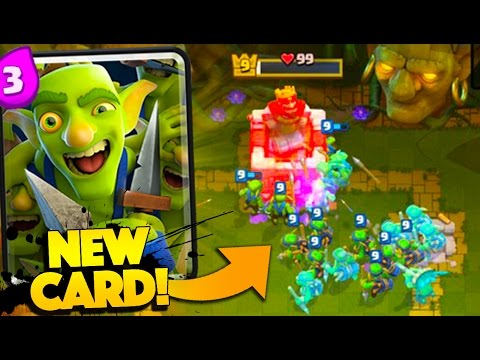 NEW GOBLIN GANG TROLL DECK! CLASH ROYALE NEW CARD I ACTUALLY DON'T SUCK WITH (видео)