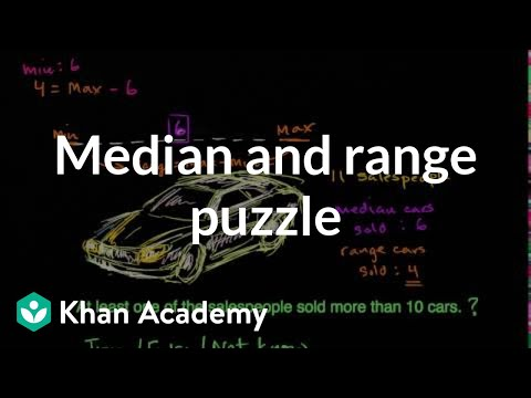 Median Range Puzzlers Video Khan Academy