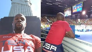 Floyd Mayweather Supports Team USA In Rio, Signs the next Floyd Mayweather by Obsev Sports