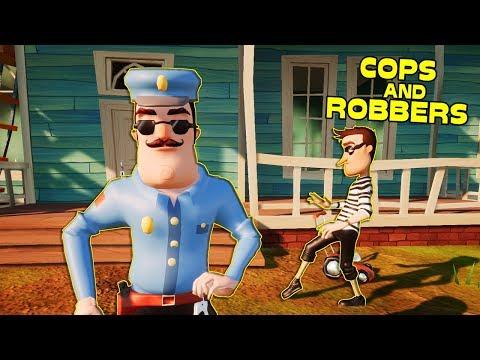 HELLO NEIGHBOR COPS AND ROBBERS | Hello Neighbor Mod (видео)