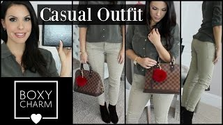 Please support my channel and SUBSCRIBE HERE https://www.youtube.com/subscribe_widget?p=mrsjennmarie↓ CLICK HERE FOR MORE INFO ↓ BOXYCHARMhttps://boxycharm.comOUTFIT DETAILS Top http://rstyle.me/n/be3bhsbbpsf (Olive)Pants (ON SALE) I paid $238 for these and they're on sale here http://rstyle.me/n/bixqsibbpsf for $71These are also so cute http://rstyle.me/n/bizbtebbpsf and on sale for $51 Bag http://us.louisvuitton.com/eng-us/products/alma-pm-damier-ebene-000512Bag Charm/Key Chain http://rstyle.me/n/bixqxsbbpsf (on sale)Booties http://rstyle.me/n/bixq5dbbpsf (in light brown) Earrings https://www.chloeandisabel.com/products/E314/monarch-convertible-statement-earrings/?m=jennmarieNecklace https://www.chloeandisabel.com/products/N331G/pav-circle-convertible-layering-necklace/?m=jennmarieWatch http://rstyle.me/n/bixq8rbbpsfFACEBOOK  https://www.facebook.com/MrsJennMBLOG  www.mrsjennmarie.comINSTAGRAM  https://www.instagram.com/mrsjennmarieTWITTER  https://twitter.com/MrsJennMarieSNAPCHAT  MrsJennMarie♡ WATCH MY OTHER VIDEOS ♡→ Valentine's Day Maekup Day & Night https://youtu.be/NyVyyhZ6PBw→ Beauty/Filming Room Tour https://youtu.be/_pUnZxkp3Gc→ Bra and Panties Haul https://youtu.be/ee6Rhj87fU0→ NEW Makeup Forever Stick Foundation Review & Demo https://youtu.be/-shRalf1RDI→ My Diet and Exercise Routine https://youtu.be/WKy7FU-j8do→ New Palettes Haul https://youtu.be/6z6FZX_azG0→ Fashion Haul TRY ON https://youtu.be/SR-Tv-_-RuI→ Product Empties https://youtu.be/6Y1i6kRFtKU→ My Crazy November VLOG https://youtu.be/nhuTQ4rWjbY→ Anti-aging Tool and Products That WORK https://youtu.be/8_DiRA3JgHQ→ Burgundy Smokey Eye https://youtu.be/MoJPrZLd9k8------------------------------------♡ FAVORITE SHOPPING SITES  ♡→Earn cash back for shopping online through Ebates http://goo.gl/q5m9nk→Hautlook http://www.hautelook.com/short/3P3j3→RueLala https://www.ruelala.com/invite/jennmarie→ Join me on @poshmarkapp, the #1 app to buy and sell fashion. Sign up with BCHPS to get $10 off your first 