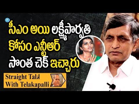 Dr.Jayapraksh Narayana about Lakshmi Parvathi and NTR    Straight Talk with Telakapalli (видео)