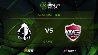 Faceless vs WG.Unity, Game 1, Boston Major SEA Qualifiers