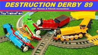 Video Thomas & Friends Destruction Derby #89 - Trackmaster toy trains competition with many accidents. MP3, 3GP, MP4, WEBM, AVI, FLV Juni 2018