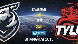 Grayhound vs Tyloo - IEM Shanghai 2018 - de_cache [SSW, Anishared]