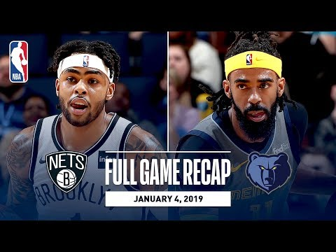Video: Full Game Recap: Nets vs Grizzlies | Conley and Russell Battle in Memphis