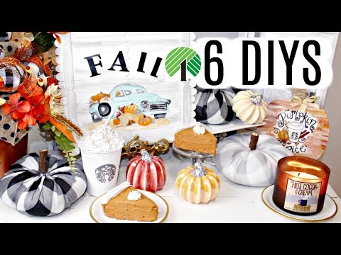 "🍁6 DIY DOLLAR TREE FALL DECOR CRAFTS 2019🍁""I LOVE FALL"" ep.7 Starbucks/Olivia's Romantic Home DIY"