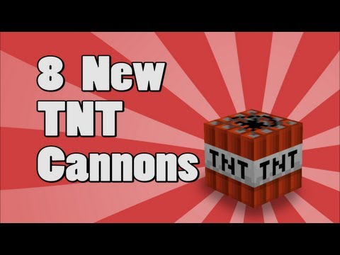 8 New Minecraft TNT Cannons! Xbox 360 Edition