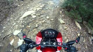 8. How to crush your toe with a Kawasaki KLR 650