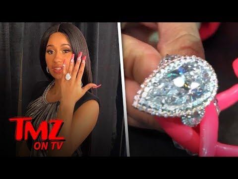 Cardi B's Engagement Ring is Insane | TMZ TV