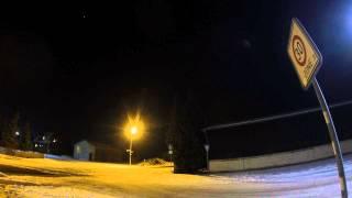 Zeitraffer Ortseingang Neubokel - Nacht (Schwenk)