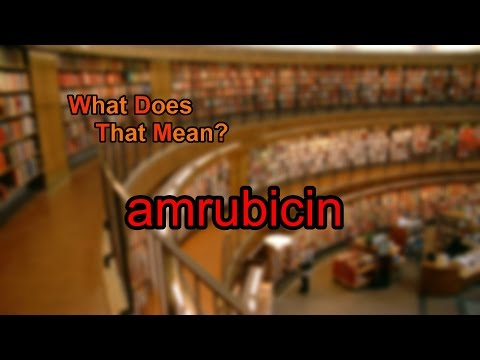 What does amrubicin mean?