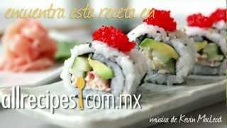 Rollo de sushi California