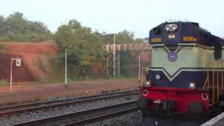 Kumta India  city photos gallery : Konkan Railways - Matsyagandha Express at Kumta station & Karwar YPR express