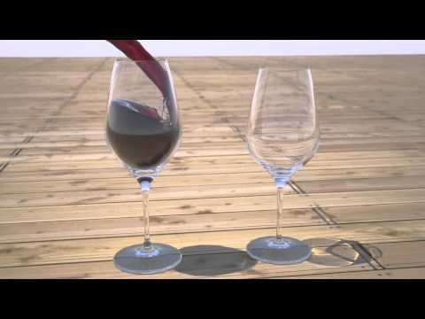 how to fill wine glass