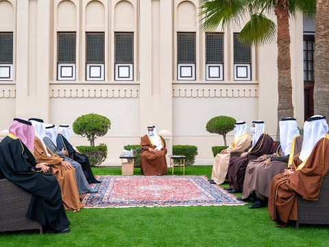 HRH the Crown Prince and Prime Minister conducts a press interview with editors-in-chief of local news outlets