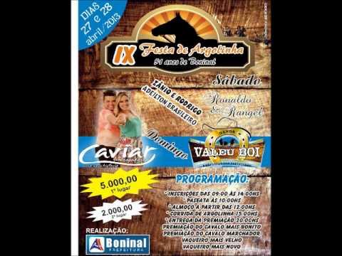Argolinha em Boninal dias 27 e 28 de abril.