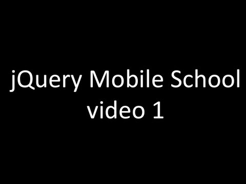 comment installer jquery mobile