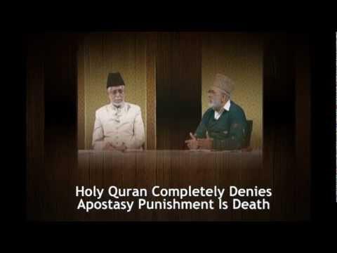 Dr Zakir Naik VS Ahmadi Muslim Scholar On Apostasy Islamic Punishment is Death or not!