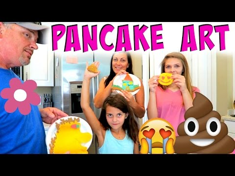 😍 EPIC PANCAKE ART CHALLENGE! 😍 FAMILY EDITION!