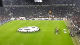 Juventus v Porto 1-0 Uefa Champions League anthem Round of 16