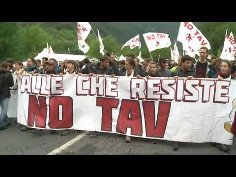 Διαμαρτυρίες στην Ιταλία για την υπερταχεία Λυών – Τορίνο…