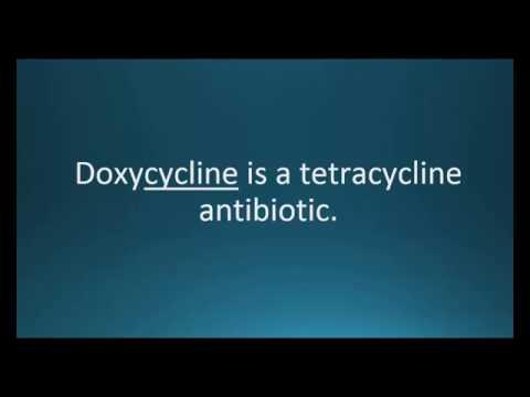 How to pronounce doxycycline (Vibramycin) (Memorizing Pharmacology Video Flashcard)