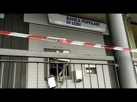 L'assalto al bancomat a San Martino
