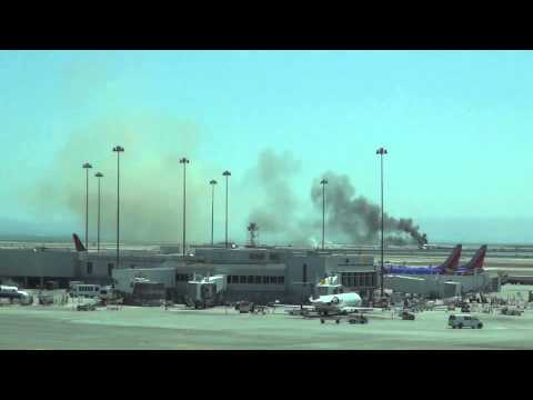 Airplane on fire at SFO airport