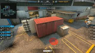 (Ru) GG.BET Shuffle | Waterboys vs Team Spirit | bo3 | @c0stajan | Map 1
