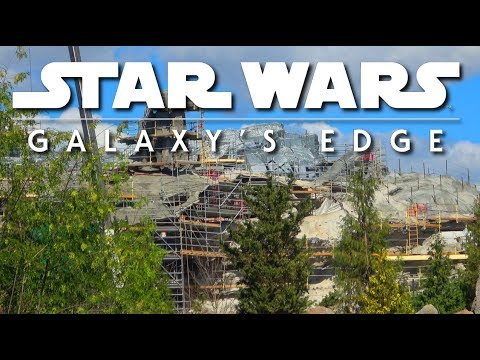 I see a real Mountain - Galaxys Edge Construction Update - Pt. 137 | 03-17-18 (видео)