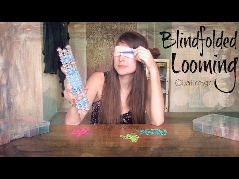 BLINDFOLDED LOOMING CHALLENGE – SoCraftastic – Rainbow Loom