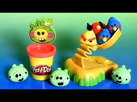 Play Doh Angry Birds Build 'n Smash Game From Rovio Unboxing PlayDough by FunToys