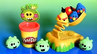 Play Doh Angry Birds Build 'n Smash Game From Rovio Unboxing by DisneyCollector ToyChannel - YouTube