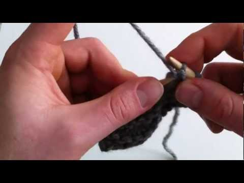 Stricken lernen   linke Maschen und glatt rechts stricken