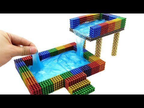 DIY How To Make Rainbow Two Floors Swimming Pool With 35000 Magnetic Balls, Slime | Surprise Balls
