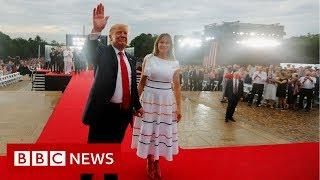 Trump leads Salute to America celebration - BBC News