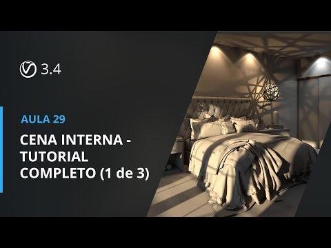Vray 3.4 para SketchUp - Aula 29: CENA INTERNA - TUTORIAL COMPLETO (1 de 3)