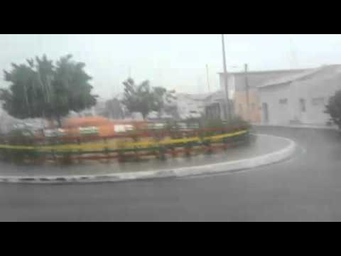 [TV TRIBUNA] Vídeo mostra chuva em Lajes (07/01/16)