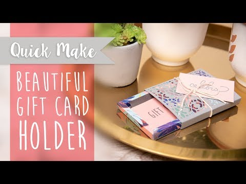 DIY: Gift Card Holder - Sizix