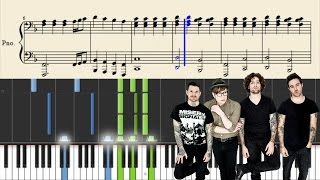 Fall Out Boy - Golden - Piano Tutorial + Sheets