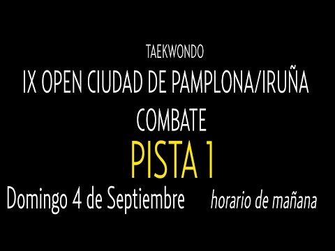 Open Internacional Pamplona. Domingo Pista 1
