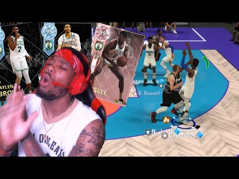 I CAN'T CONTROL MY RAGE! PINK DIAMOND BILL RUSSELL & DIAMOND JAYSON TATUM! NBA 2K18 MYTEAM GAMEPLAY!