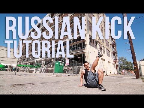 Брейк Данс: russian kick. Урок видео.