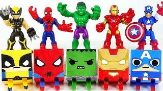Video Marvel Avengers Hulk, Spider-Man, Iron Man Gacha Cube combine! Defeat Thanos, dinosaur! #DuDuPopTOY MP3, 3GP, MP4, WEBM, AVI, FLV Januari 2019
