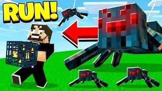 DERP SSUNDEE vs SPIDER SPAWNER (Minecraft)