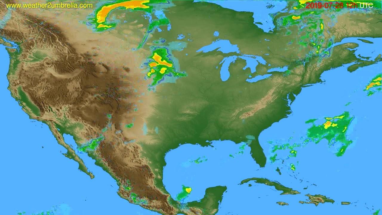 Radar forecast USA & Canada // modelrun: 00h UTC 2019-07-28